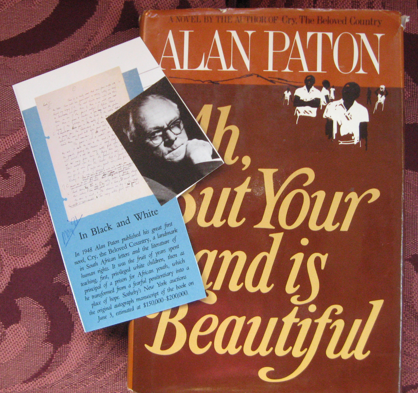 an analysis of the book cry the beloved country by alan patton